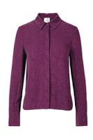 Mind of Line Plum silk shirt w. Zipper-524