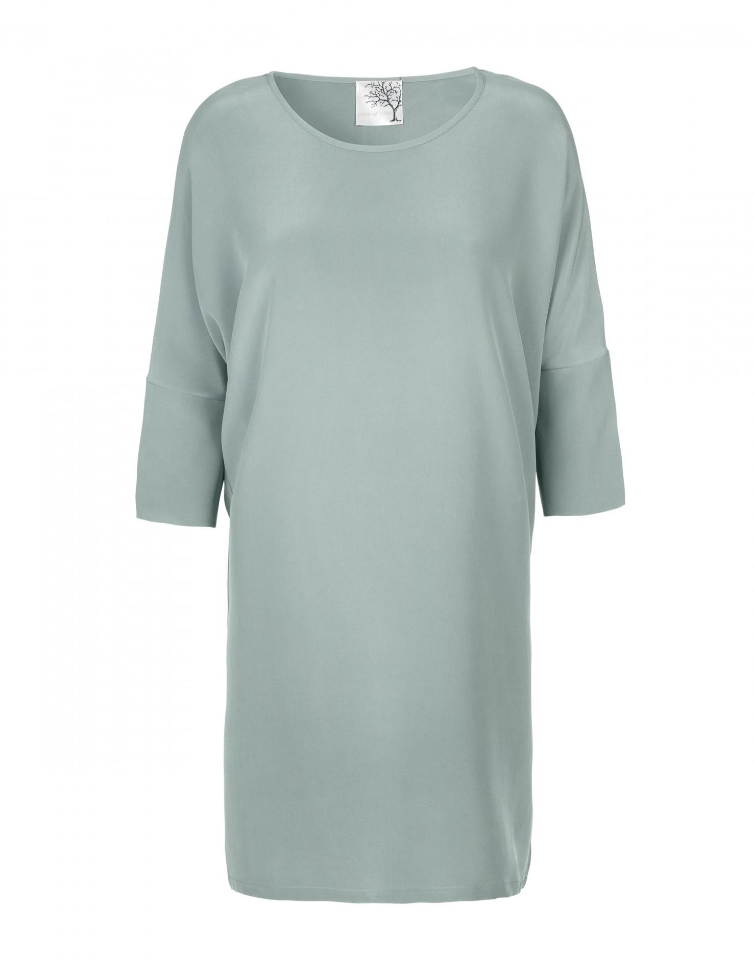 9297815aa25f Mint silke kjole med blå stribe i ryggen - Mind of Line