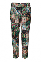 Mind of Line Patchwork silk pants-453