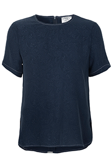 Blå t shirt i silke Mind of Line