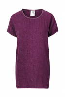 Mind of Line Plum silk t-shirt-527