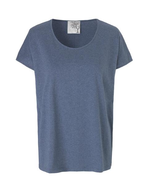 Blå t-shirt i bomulds jersey