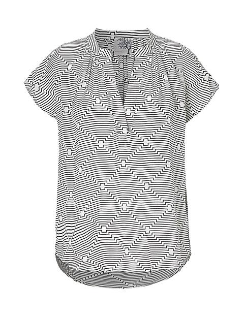 c6d8dbca Grafisk stribet t-shirt fra Mind of Line - Mind Of Line