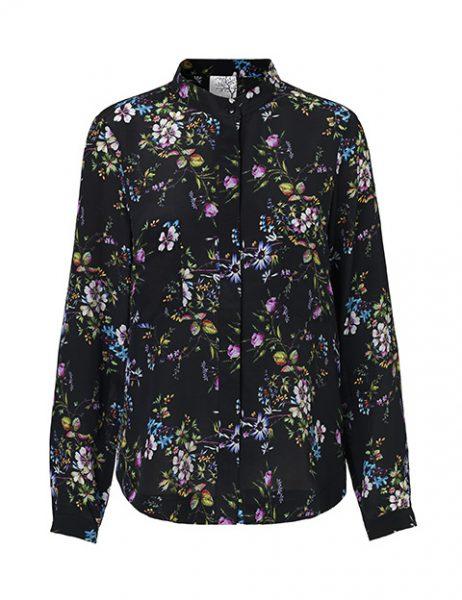 Blomster silkeskjorte fra danske Mind of Line