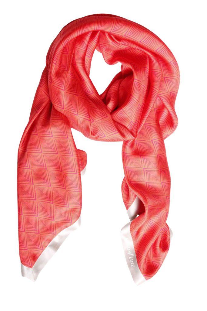 Geometric print på Mind of Line silketørklæde