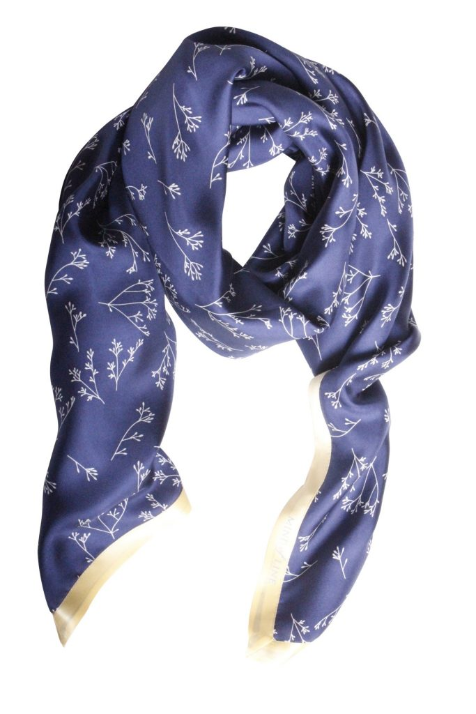Blomsterfrøet på Mind of Line silketørklæde