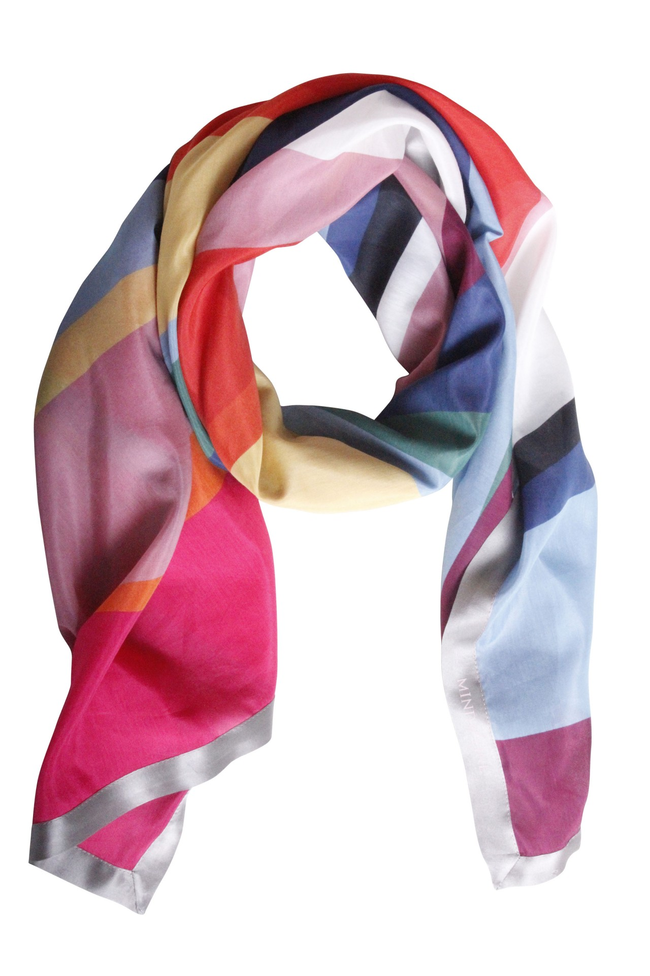 Multifarvet tørklæde i skønne forårsfarver fra Mind of Line