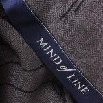 Mind of Line uldtørklæde med gran stregprint
