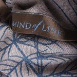 Mind of Line uldtørklæde med granprint