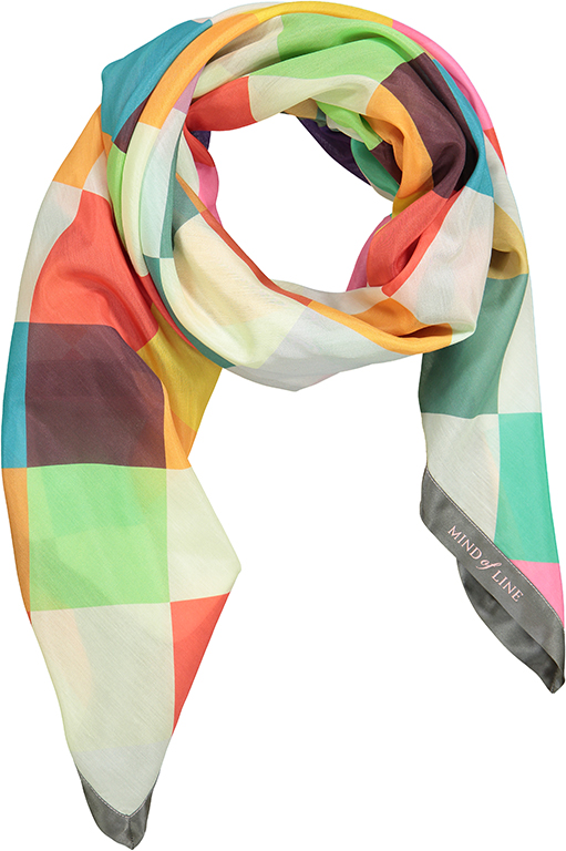 Harlekinternet Mind of Line tørklæde