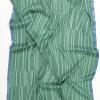 Hør silke tørklæde med striber