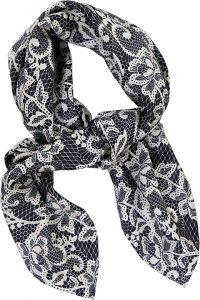 Lille silketørklæde fra Mind of Line med blondeprint