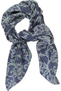 Mind of Line silketørklæde med print fra blonde