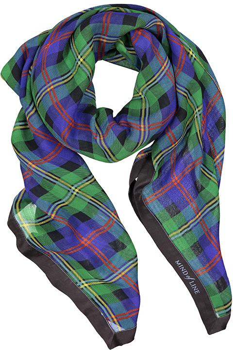Ternet silke-uldtørklæde fra Mind of Line