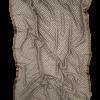 Uldtørklæde med silkekant fra Mind of Line