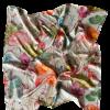 Blomsterprintet lille silketørklæde fra Mind of Line