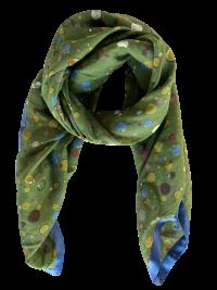 Mind of Line silke/bomuldstørklæde med prikker og cirkler