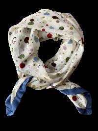Mind of Line silketørklæde med multiprikker