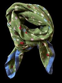 Multiprikket grønt silketørklæde fra Mind of Line