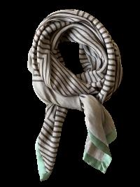 Zigzag printet hør silke tørklæde fra Mind of Line