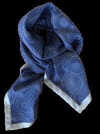 Prikket printet silke/bomulds tørklæde fra Mind of Line