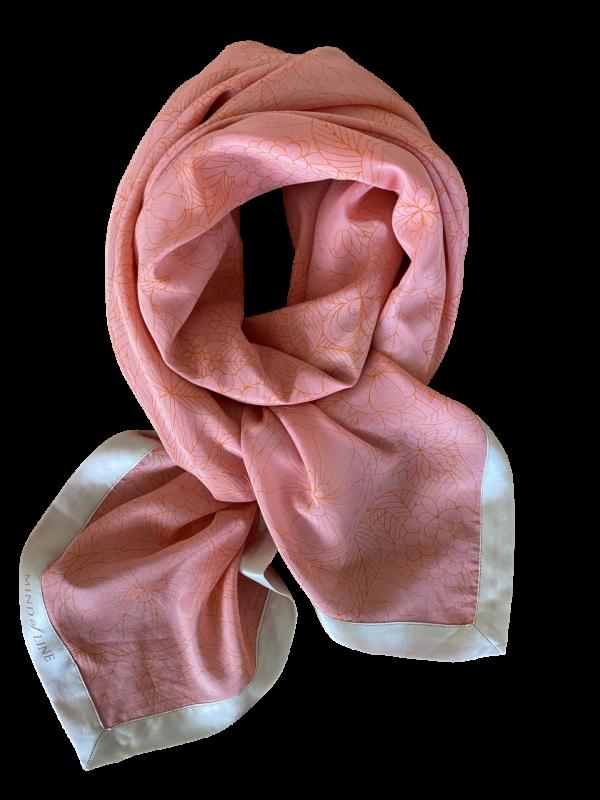 Organisk printet silke/bomulds tørklæde fra Mind of Line
