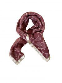 Mind of Line uldtørklæde med print af løv