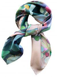 Organisk printet Mind of Line silketørklæde