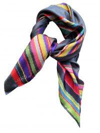 Lille stribet silketørklæde fra Mind of Line